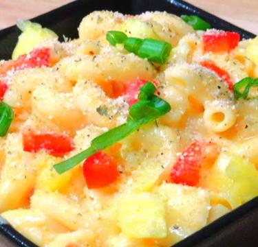 Baked Macroni with Pineapple