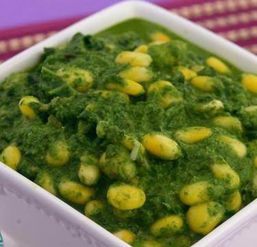 Palak Corn Capsicum