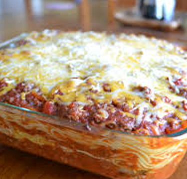 baked spaghetti with pineapple